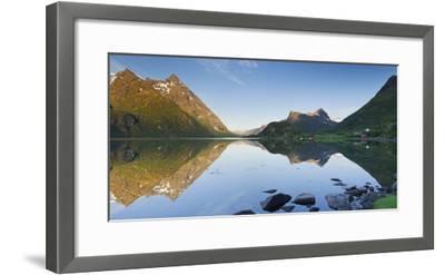 Norway, Nordland, Lofoten, Austvagoya, Austnesfjorden-Rainer Mirau-Framed Photographic Print