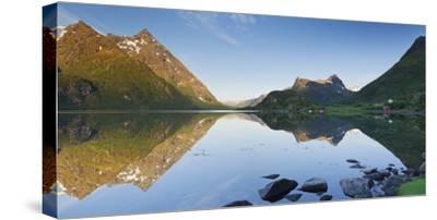 Norway, Nordland, Lofoten, Austvagoya, Austnesfjorden-Rainer Mirau-Stretched Canvas Print
