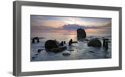 Erratic Blocks at Sunrise, National Park Jasmund, Island RŸgen, Mecklenburg-West Pomerania, Germany-Andreas Vitting-Framed Photographic Print