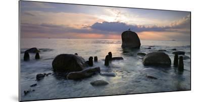 Erratic Blocks at Sunrise, National Park Jasmund, Island RŸgen, Mecklenburg-West Pomerania, Germany-Andreas Vitting-Mounted Photographic Print