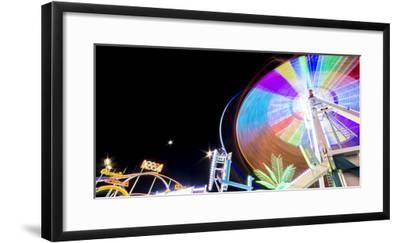 Long Time Exposure at Night at the Oktoberfest, Fairground Rides-Benjamin Engler-Framed Photographic Print