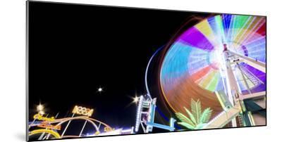 Long Time Exposure at Night at the Oktoberfest, Fairground Rides-Benjamin Engler-Mounted Photographic Print