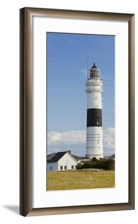 Lighthouse of Kampen (Municipality), Sylt (Island), Schleswig-Holstein, Germany-Rainer Mirau-Framed Photographic Print
