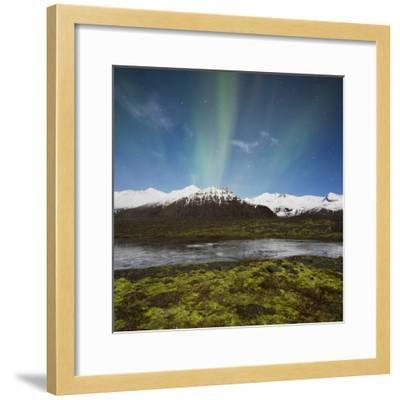 Aurora Borealis, Hafrafell, Skaftafell, South Iceland, Iceland-Rainer Mirau-Framed Photographic Print