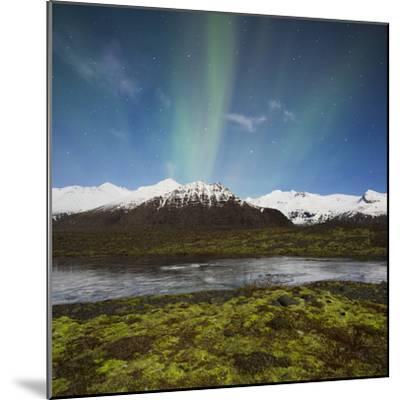 Aurora Borealis, Hafrafell, Skaftafell, South Iceland, Iceland-Rainer Mirau-Mounted Photographic Print