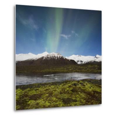 Aurora Borealis, Hafrafell, Skaftafell, South Iceland, Iceland-Rainer Mirau-Metal Print