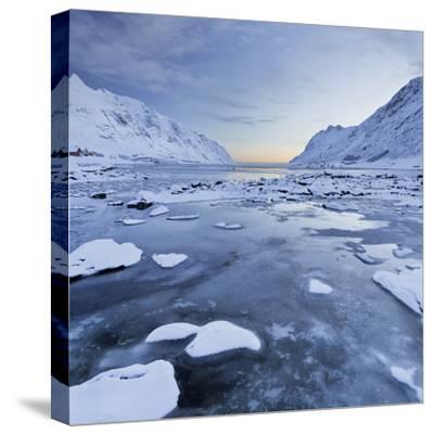 Indre Skjelfjorden, Flakstadoya (Island), Lofoten, 'Nordland' (County), Norway-Rainer Mirau-Stretched Canvas Print
