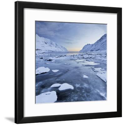 Indre Skjelfjorden, Flakstadoya (Island), Lofoten, 'Nordland' (County), Norway-Rainer Mirau-Framed Photographic Print