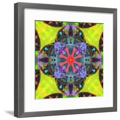 A Mandala from Flowers, and Ornaments-Alaya Gadeh-Framed Photographic Print