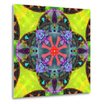 A Mandala from Flowers, and Ornaments-Alaya Gadeh-Metal Print