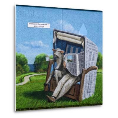 Germany, Schleswig-Holstein, North Frisia, Island of Pellworm, Health Resort-Udo Siebig-Metal Print