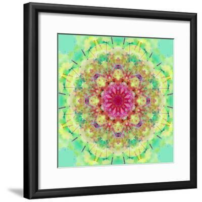 Symmetric Floral Montage-Alaya Gadeh-Framed Photographic Print