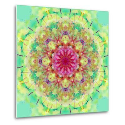 Symmetric Floral Montage-Alaya Gadeh-Metal Print