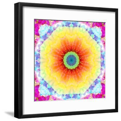 Mandala Ornament of Flowers, Composing-Alaya Gadeh-Framed Photographic Print