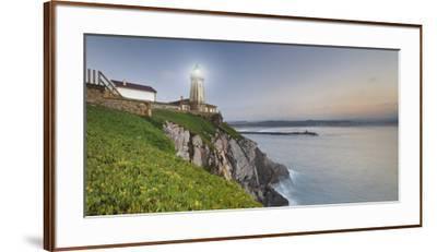 Lighthouse of AvilŽs, Bay of Biscay, Asturias, Spain-Rainer Mirau-Framed Premium Photographic Print