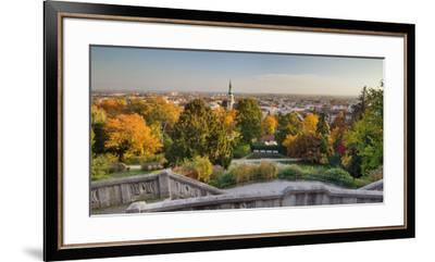 Parish Church, Kurpark, Beethoven's Temple, Baden Near Vienna, Lower Austria, Austria-Rainer Mirau-Framed Premium Photographic Print