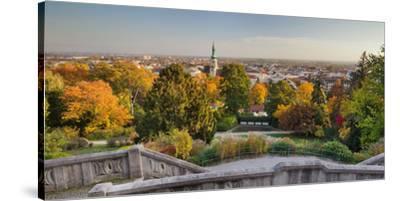 Parish Church, Kurpark, Beethoven's Temple, Baden Near Vienna, Lower Austria, Austria-Rainer Mirau-Stretched Canvas Print