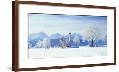 Germany, Bavaria, AllgŠu, Schwangau, Pilgrimage Church Saint Coloman-Herbert Kehrer-Framed Photographic Print