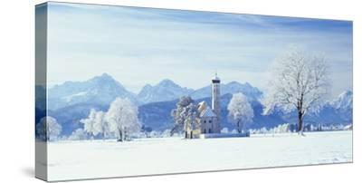 Germany, Bavaria, AllgŠu, Schwangau, Pilgrimage Church Saint Coloman-Herbert Kehrer-Stretched Canvas Print