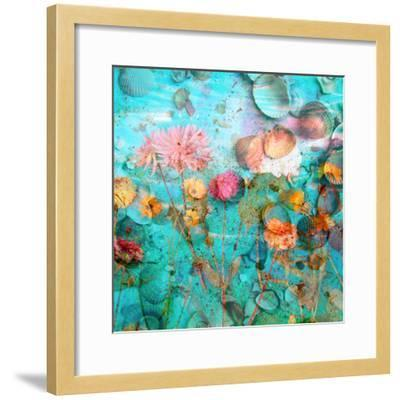 Composing of Flowers and Mussels-Alaya Gadeh-Framed Photographic Print