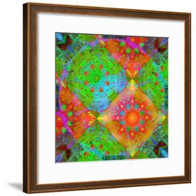 Geometrical Ornament of Flower Photos-Alaya Gadeh-Framed Photographic Print
