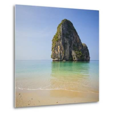Rock at the Phra Nang Beach, Ao Nang, Krabi, Thailand-Rainer Mirau-Metal Print
