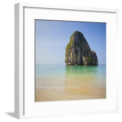Rock at the Phra Nang Beach, Ao Nang, Krabi, Thailand-Rainer Mirau-Framed Photographic Print