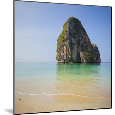 Rock at the Phra Nang Beach, Ao Nang, Krabi, Thailand-Rainer Mirau-Mounted Photographic Print