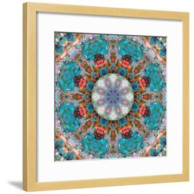 Mandala of Flower Photographies-Alaya Gadeh-Framed Photographic Print