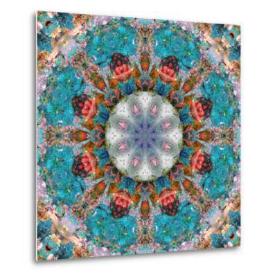 Mandala of Flower Photographies-Alaya Gadeh-Metal Print