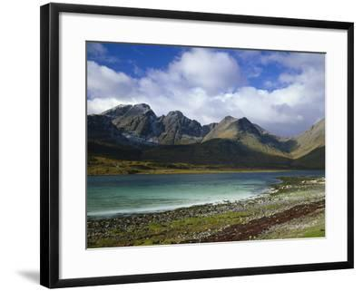 Great Britain, Scotland, Island Skye, Loch Slapin, Black Cuillins-Thonig-Framed Photographic Print