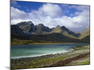 Great Britain, Scotland, Island Skye, Loch Slapin, Black Cuillins-Thonig-Mounted Photographic Print