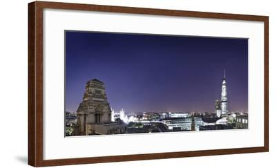 London, Panorama, Trinity House, Jewel House at the Tower of London, Roof Terrace Mint Hotel-Axel Schmies-Framed Photographic Print