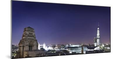 London, Panorama, Trinity House, Jewel House at the Tower of London, Roof Terrace Mint Hotel-Axel Schmies-Mounted Photographic Print