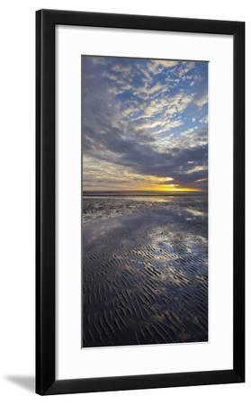 Sunrise in the Mudflat, Close to List (Municipality), Sylt (Island), Schleswig-Holstein, Germany-Rainer Mirau-Framed Photographic Print