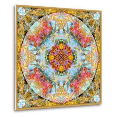 A Mandala Made Out of Flowers and Plants-Alaya Gadeh-Metal Print