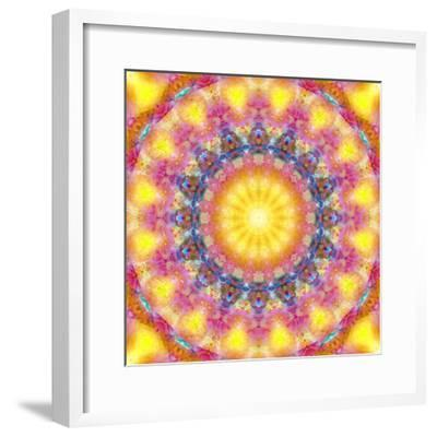 Mandala of Flower Photographies-Alaya Gadeh-Framed Photographic Print