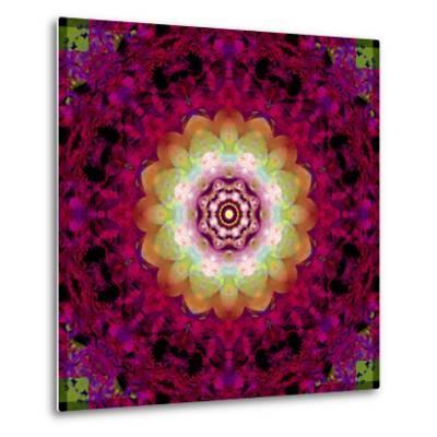 Symmetrical Ornament of Flower Photos-Alaya Gadeh-Metal Print