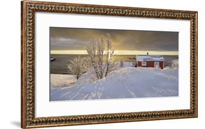 Hut in Reine (Village), Moskenesoya (Island), Lofoten, 'Nordland' (County), Norway-Rainer Mirau-Framed Photographic Print