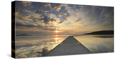 Germany, Saxony-Anhalt, Braunsbedra, Neumark, Geiseltalsee (Lake), Marina, Harbour-Andreas Vitting-Stretched Canvas Print