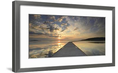 Germany, Saxony-Anhalt, Braunsbedra, Neumark, Geiseltalsee (Lake), Marina, Harbour-Andreas Vitting-Framed Photographic Print