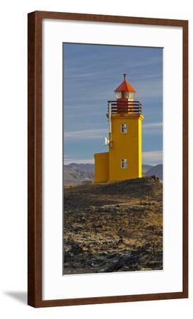 Hopsneses Lighthouse, Reykjanes (Headland), Iceland-Rainer Mirau-Framed Photographic Print