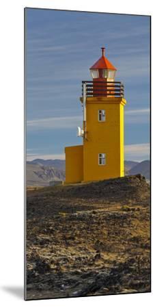 Hopsneses Lighthouse, Reykjanes (Headland), Iceland-Rainer Mirau-Mounted Photographic Print
