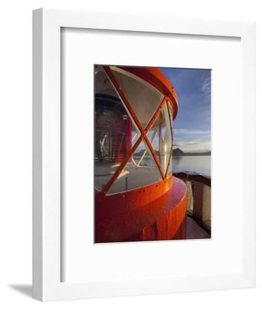 Light in the Lighthouse of Akranes (Town), West Iceland, Iceland-Rainer Mirau-Framed Photographic Print