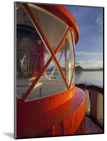 Light in the Lighthouse of Akranes (Town), West Iceland, Iceland-Rainer Mirau-Mounted Photographic Print