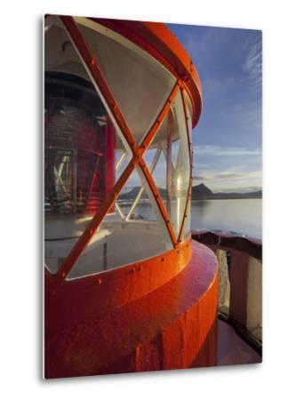 Light in the Lighthouse of Akranes (Town), West Iceland, Iceland-Rainer Mirau-Metal Print