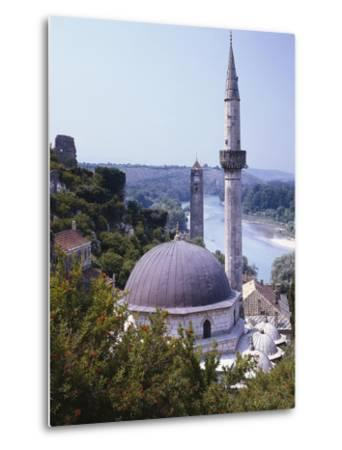 Bosnia, Pocitelj, Neretva, Mosque-Thonig-Metal Print