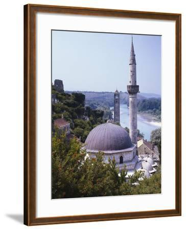 Bosnia, Pocitelj, Neretva, Mosque-Thonig-Framed Photographic Print