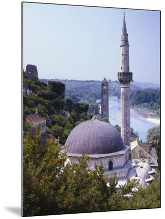 Bosnia, Pocitelj, Neretva, Mosque-Thonig-Mounted Photographic Print