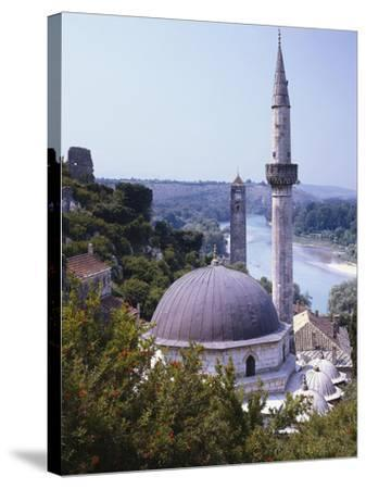 Bosnia, Pocitelj, Neretva, Mosque-Thonig-Stretched Canvas Print